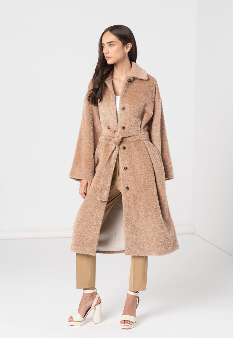 Palton de lana virgina si alpaca Again