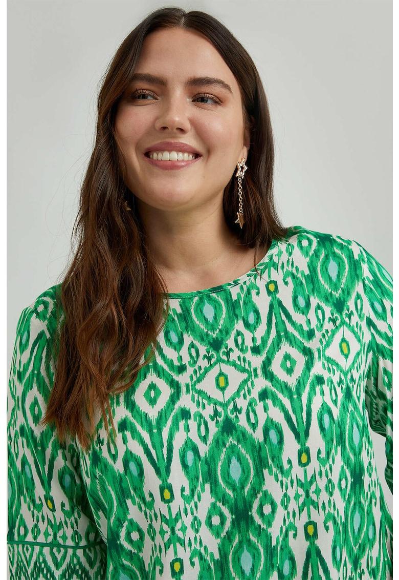 Fiorella Rubino Bluza cu model si decolteu barcuta