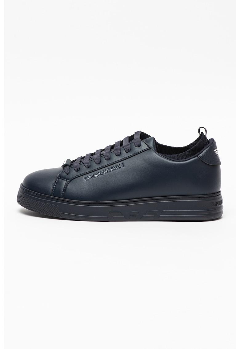 Pantofi sport low top din piele si piele ecologica