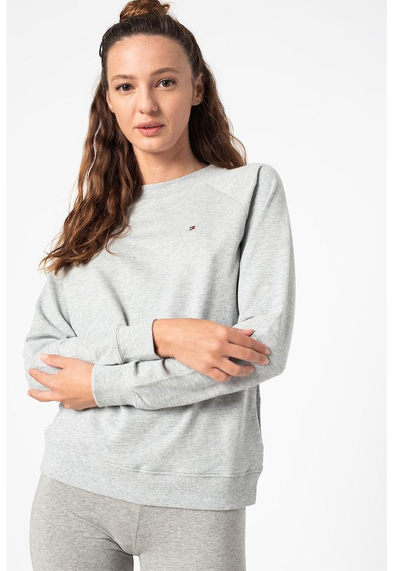 Tommy Hilfiger Bluza de pijama cu maneci raglan