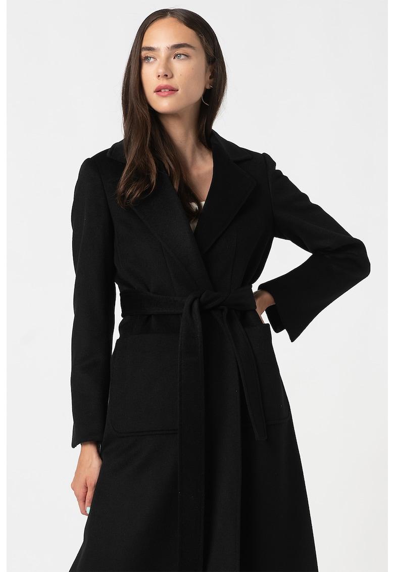 Palton de lana cu revere decupate Runaway