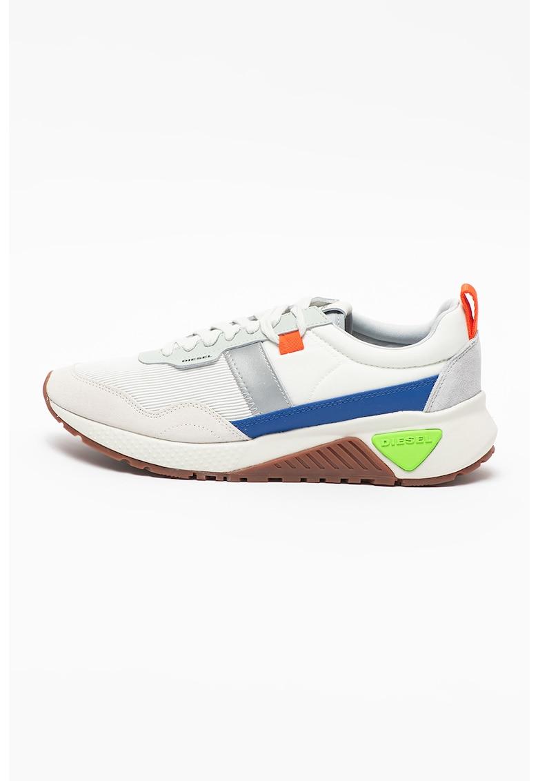 Pantofi sport cu model colorblock si insertii din piele intoarsa S-KB