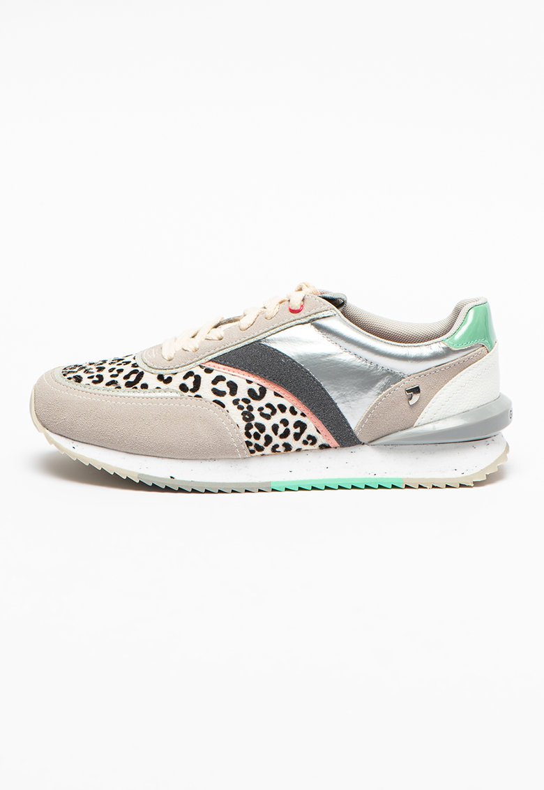 Pantofi sport cu model colorblock si insertii de piele intoarsa Aseral
