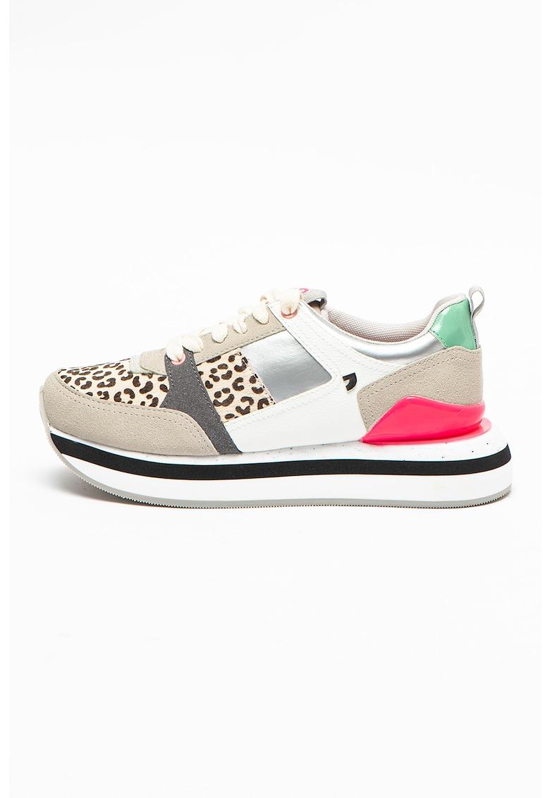 Pantofi sport cu model colorblock si insertii de piele intoarsa Stavanger