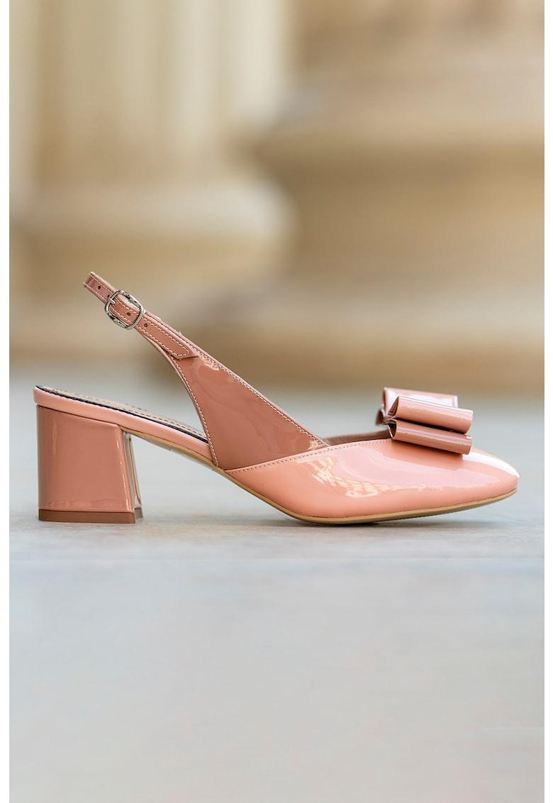 Pantofi slingback de piele lacuita Joy