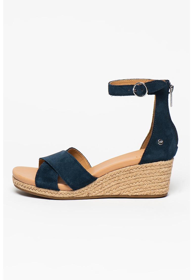 Sandale-espadrile wedge cu barete incrucisate Eugenia
