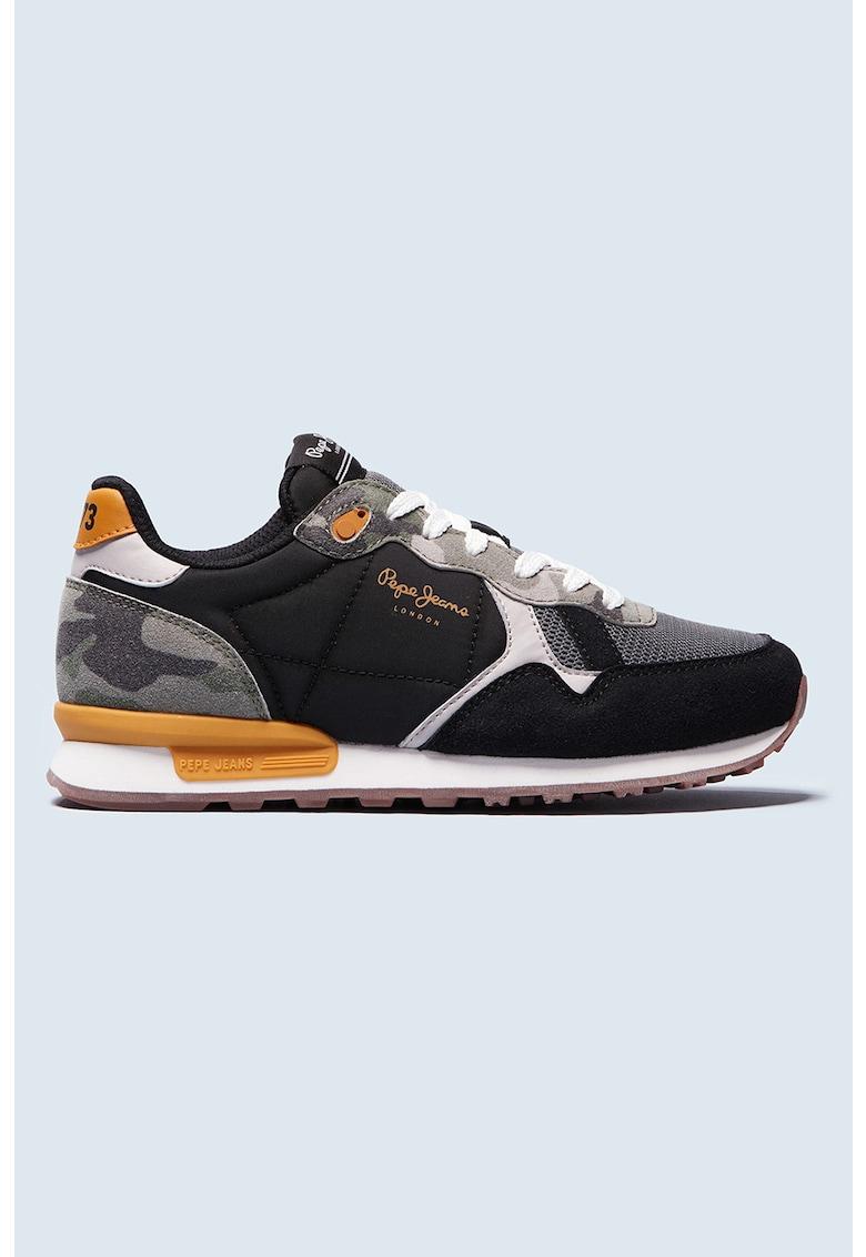 Pantofi sport cu garnituri din piele ecologica
