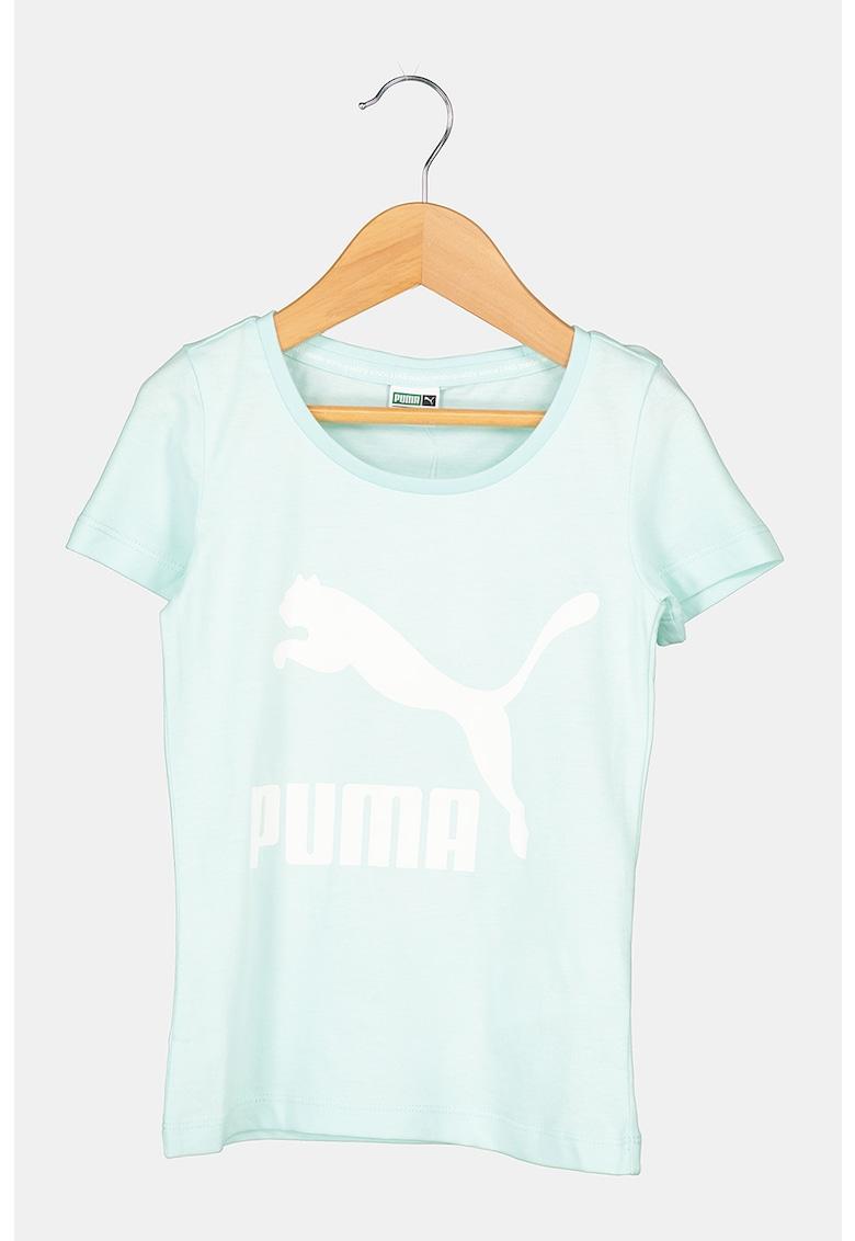 Puma Tricou cu decolteu la baza gatului si imprimeu logo Classics