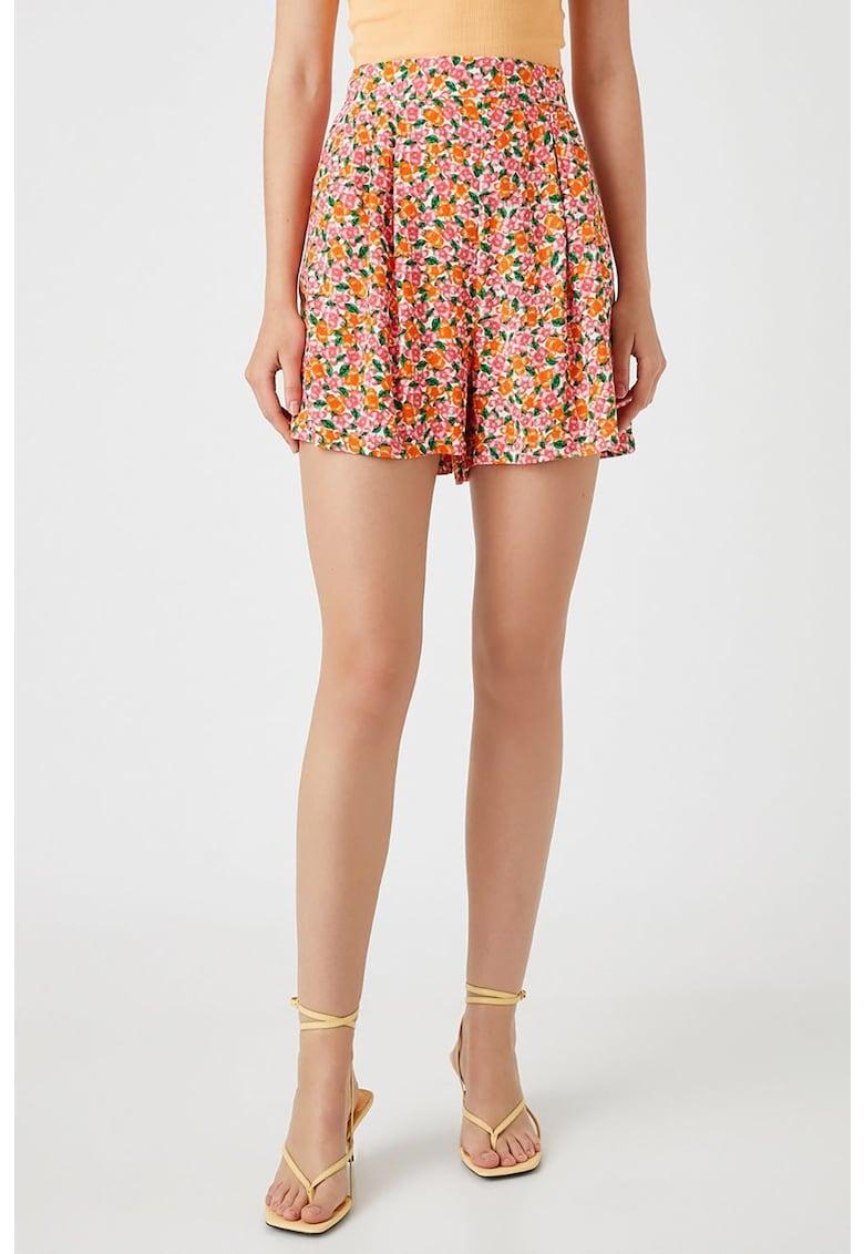 Pantaloni scurti cu imprimeu floral
