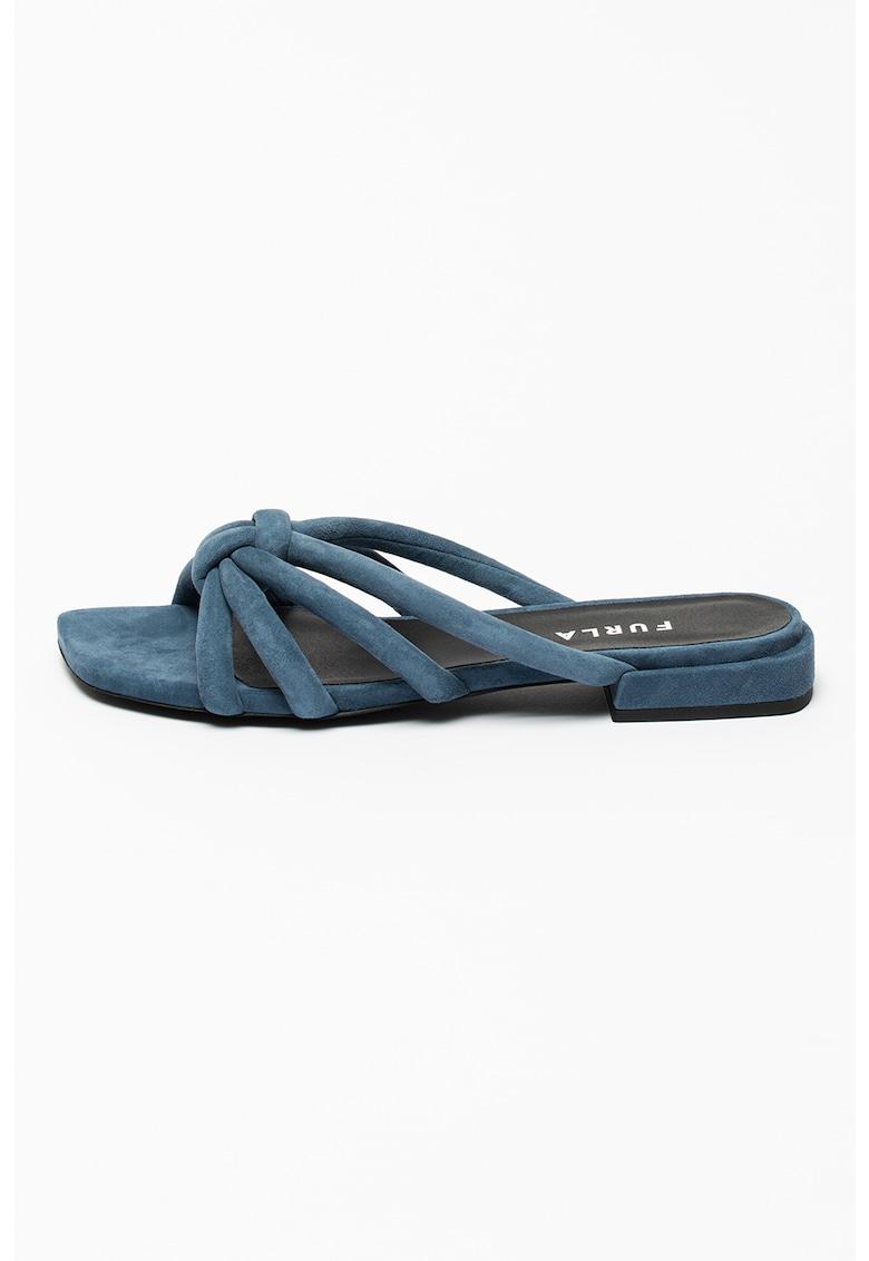 Papuci din piele intoarsa Essential