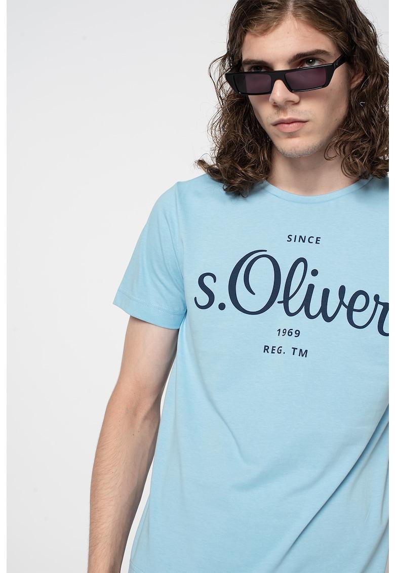 sOliver Tricou cu decolteu la baza gatului si imprimeu logo