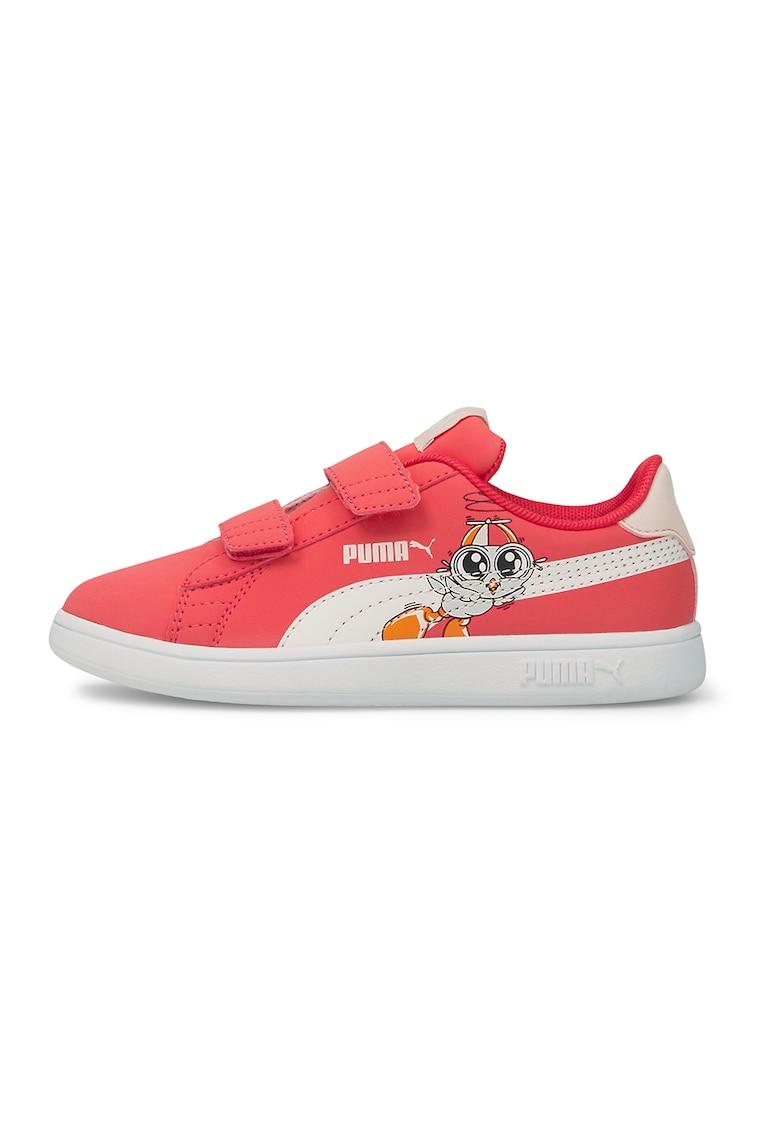 Pantofi sport cu inchidere velcro Smash v2 Lil de la Puma