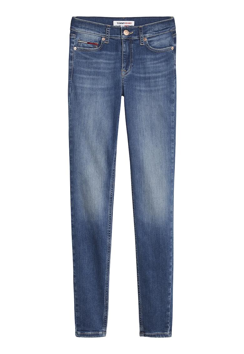 Blugi skinny cu aspect decolorat de la Tommy Jeans