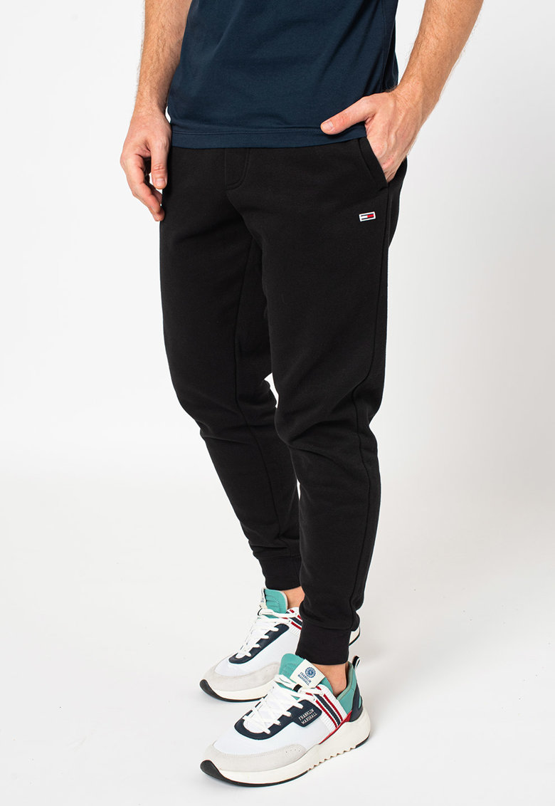 Tommy Jeans Pantaloni sport din amestec de bumbac organic