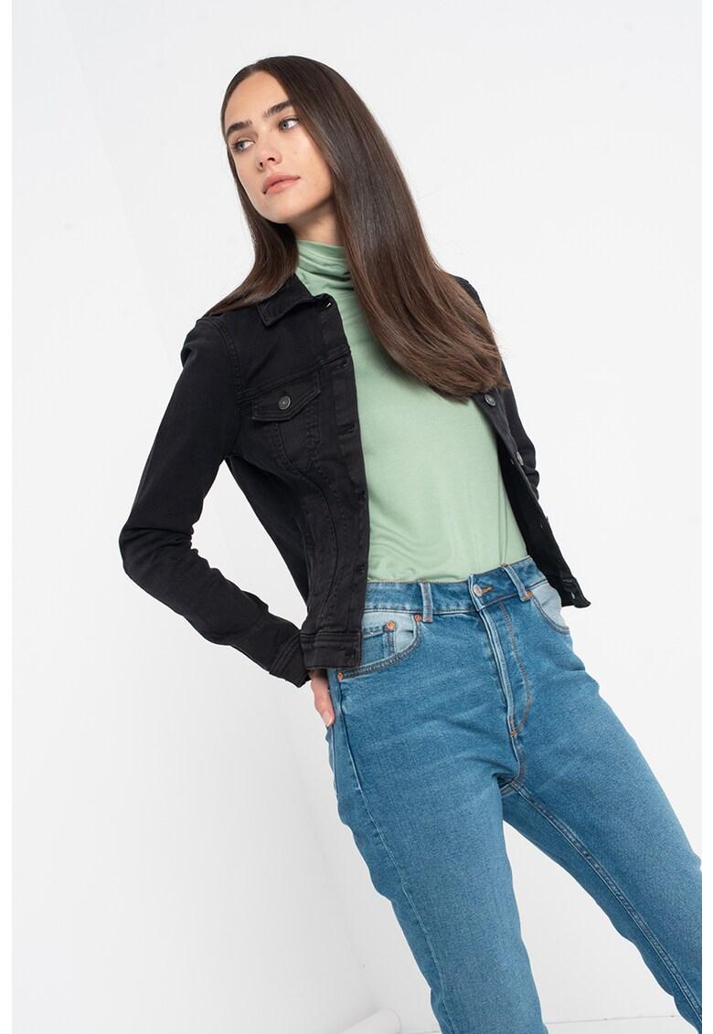 Jacheta din denim cu buzunare pe piept de la Tom Tailor