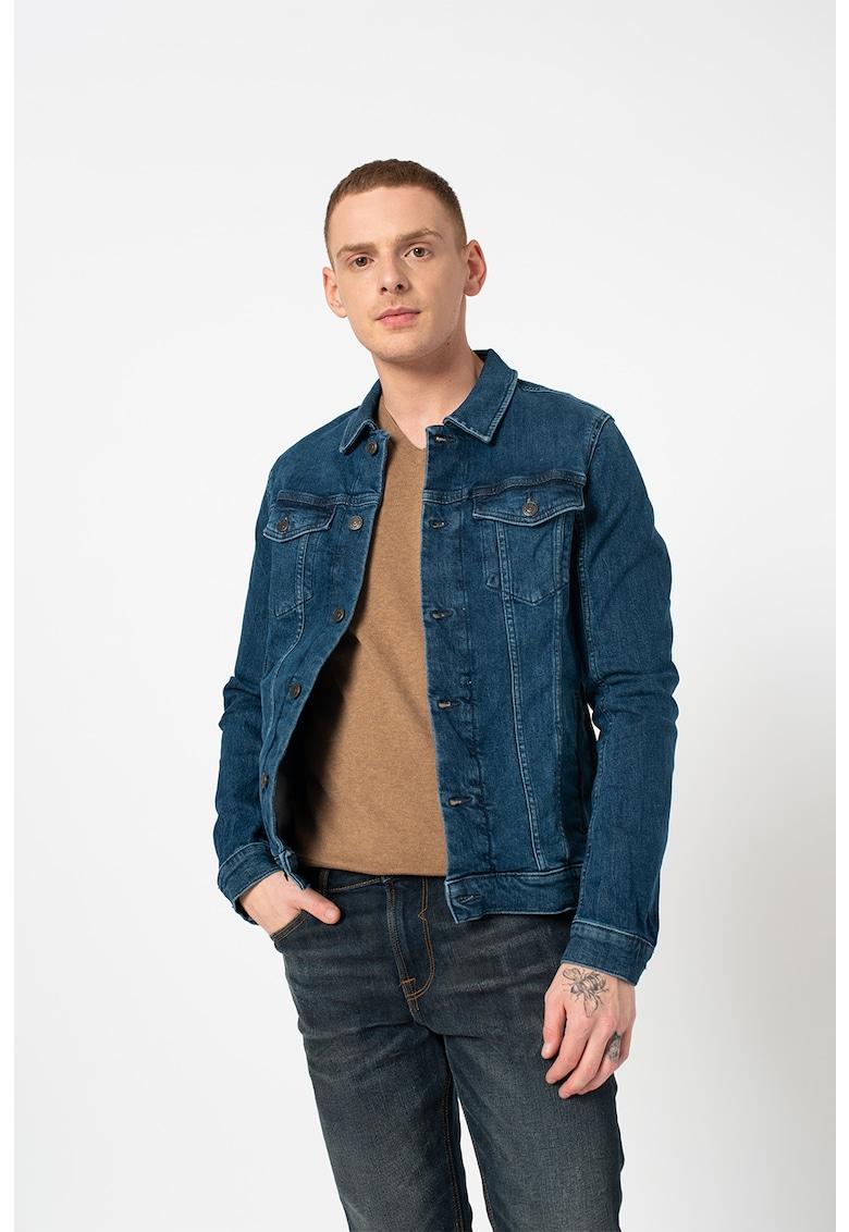 Jacheta din denim cu maneci cazute de la Tom Tailor