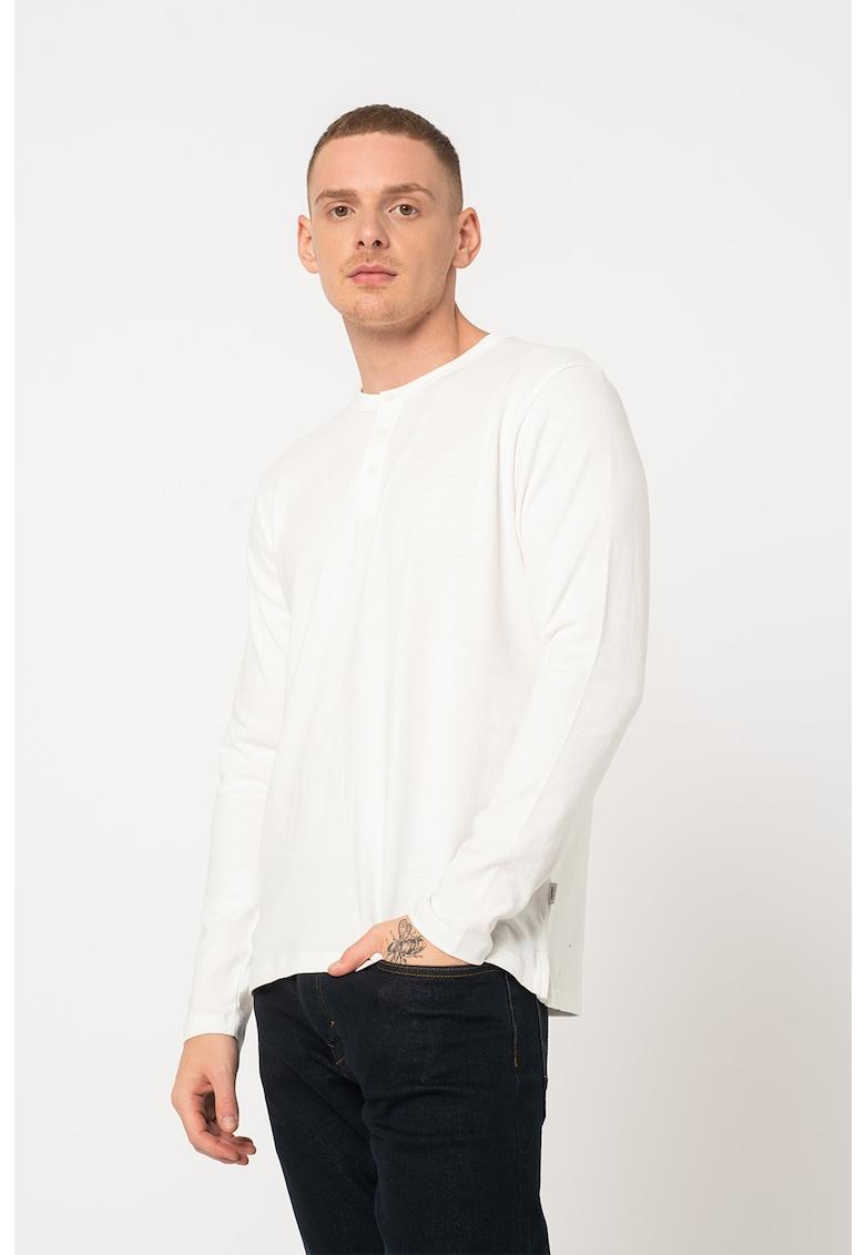 Bluza de bumbac organic cu fenta cu nasturi de la Esprit