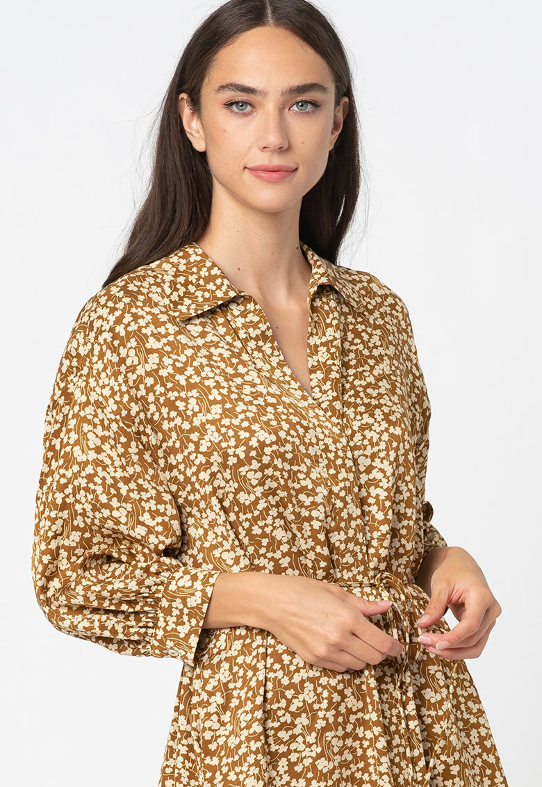 Rochie-camasa vaporoasa cu model floral