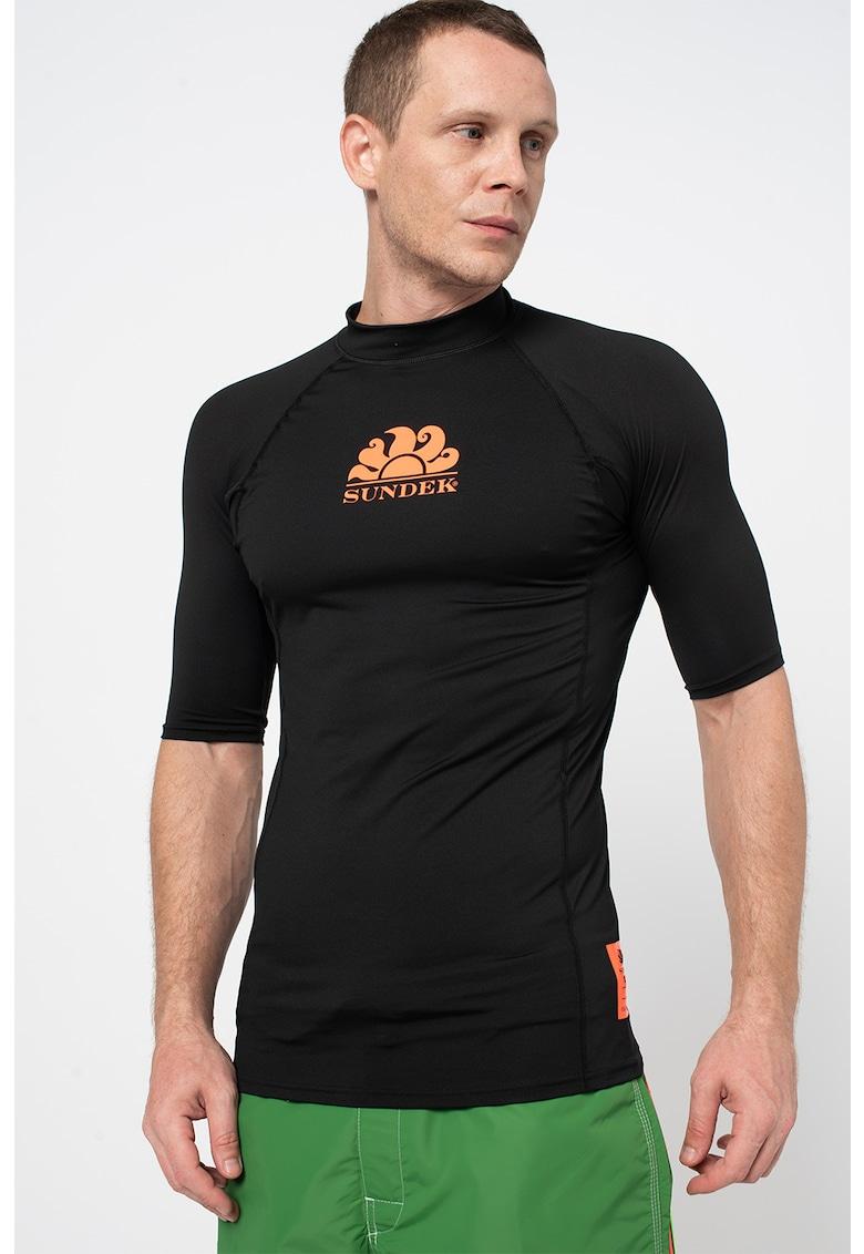 Sundek Tricou cu imprimeu logo si maneci raglan Rash Guard