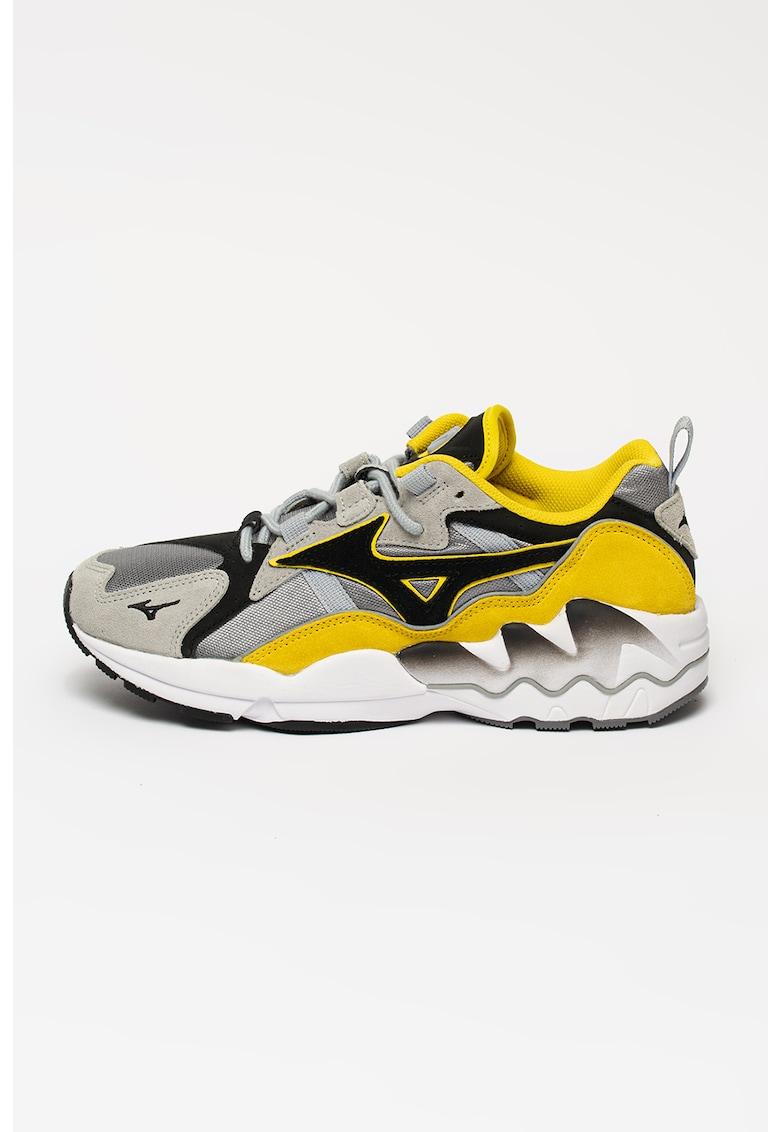 Pantofi sport unisex cu model colorblock Wave Rider 1S
