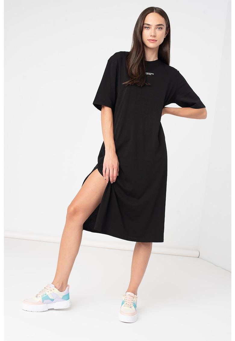 Rochie-tricou cu slit lateral
