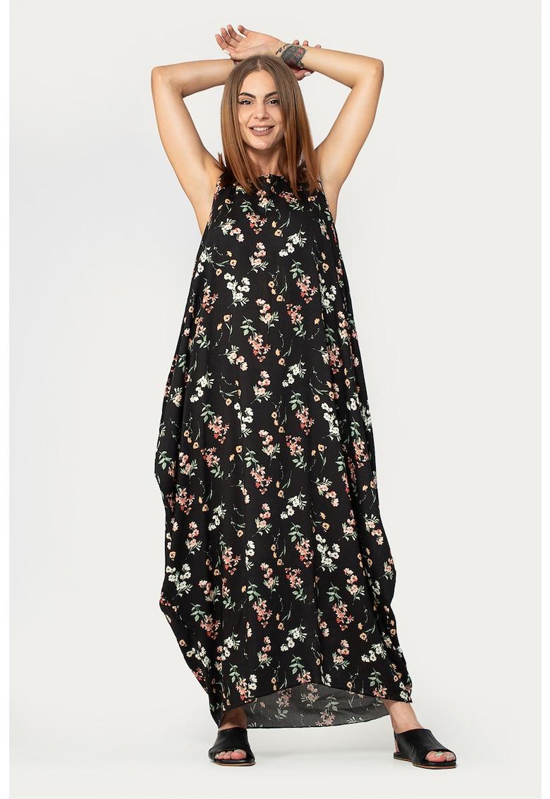 Rochie maxi lejera cu imprimeu floral