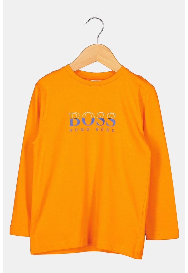 BOSS Bluza sport de jerseu cu imprimeu logo contrastant