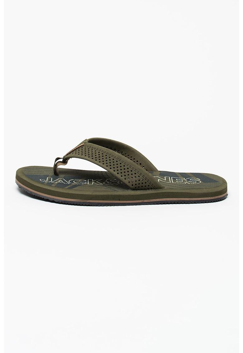 Papuci flip-flop cu model cu perforatii Falcon de la JackJones