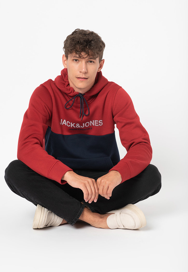 Hanorac colorblock cu imprimeu logo de la JackJones
