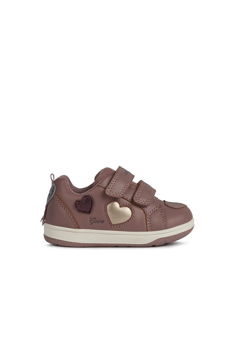 Pantofi sport de piele cu velcro de la Geox