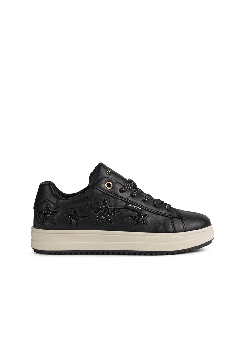 Pantofi sport low-top cu aplicatie stralucitoare in forma de stea Rebecca