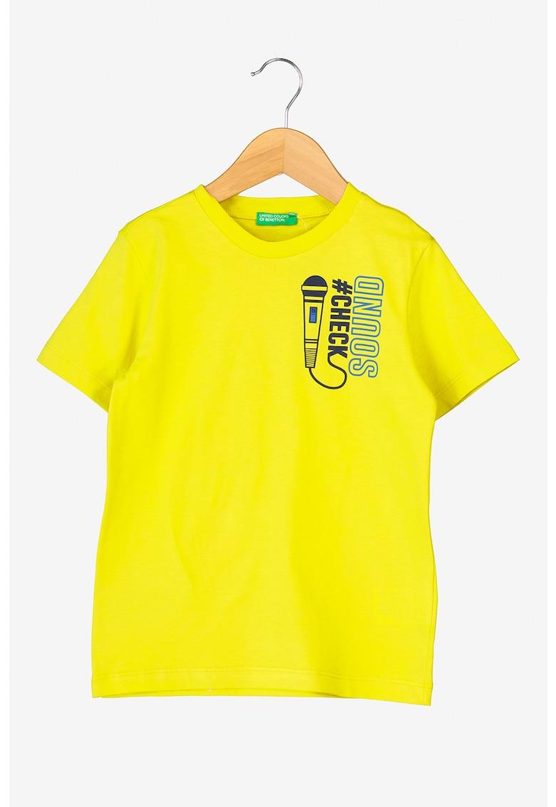 Tricou cu imprimeu frontal de la United Colors of Benetton