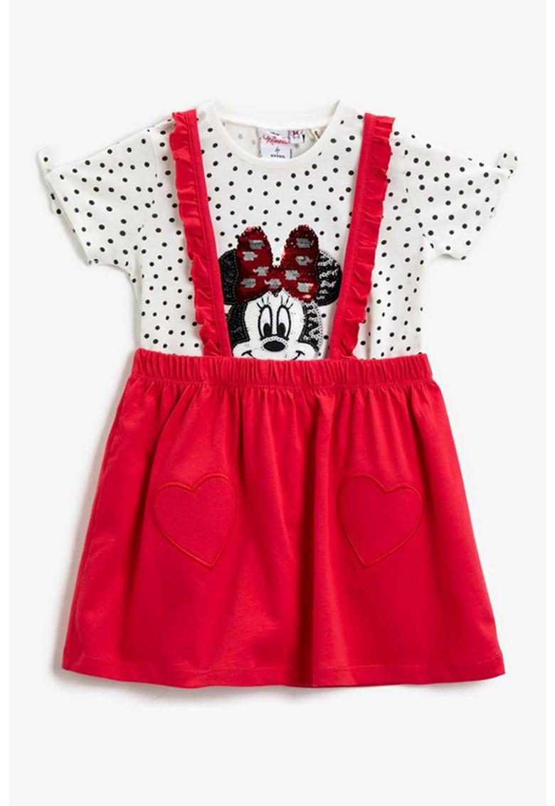 Tricou din bumbac cu model Minnie Mouse