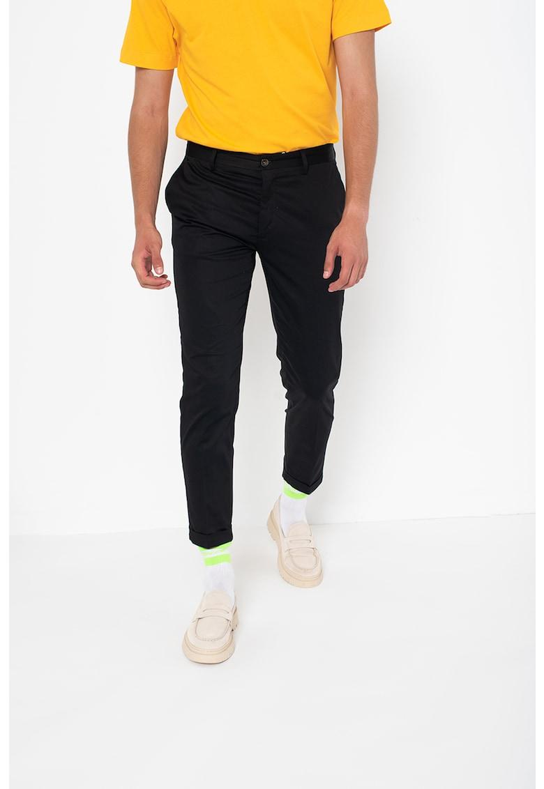 Liu Jo Pantaloni chino crop cu buzunare oblice