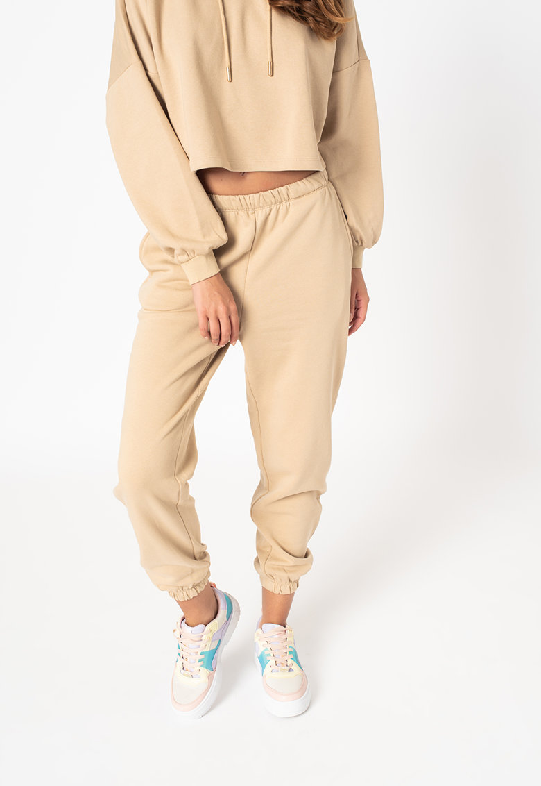 Only Pantaloni sport din amestec de bumbac organic cu buzunare laterale Feel