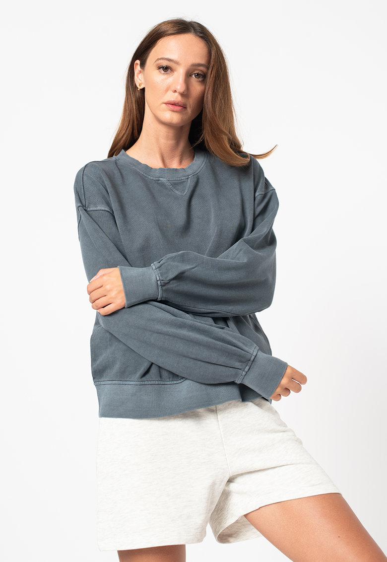 Vero Moda Bluza sport de bumbac organic cu maneci cazute Caia