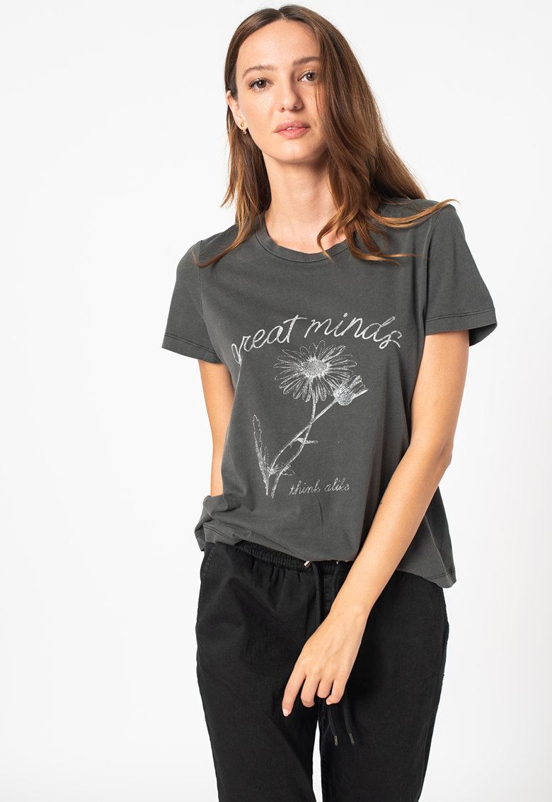 Vero Moda Tricou de bumbac organic cu imprimeu Alba Francis