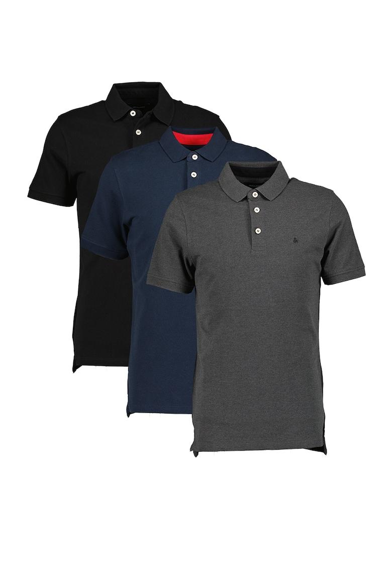 JackJones Set de tricouri polo de bumbac Paulos – 3 piese