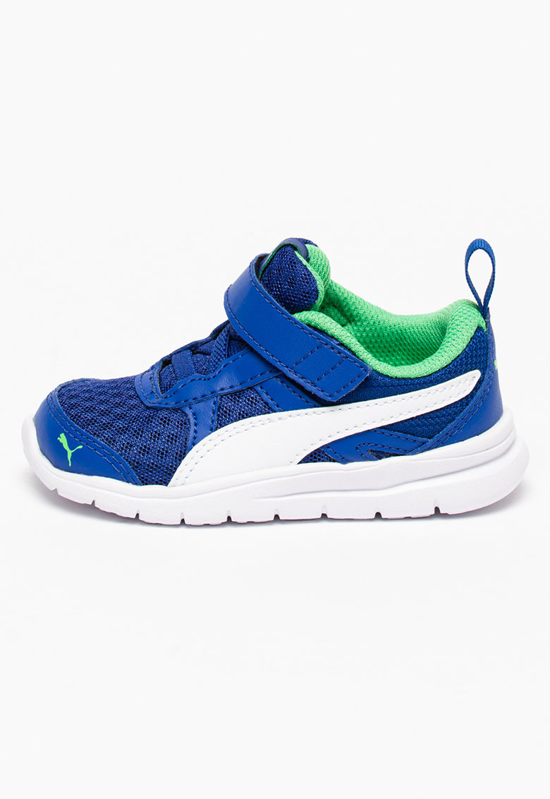 Pantofi sport din material textil si sintetic cu velcro Flex Essesntial de la Puma