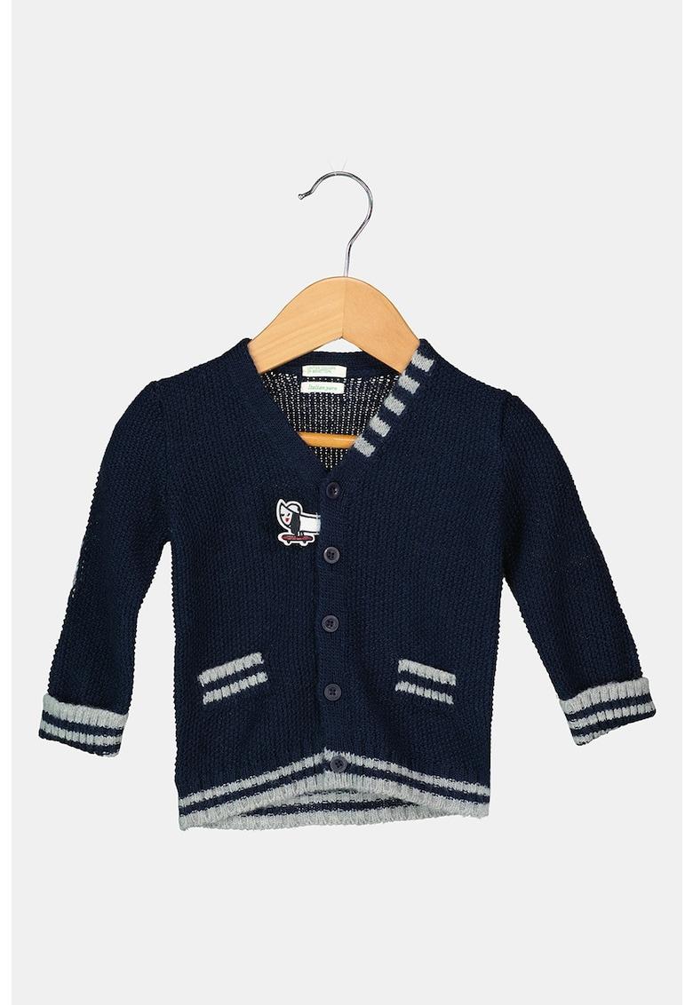 United Colors of Benetton Cardigan din amestec de lana cu decolteu in V