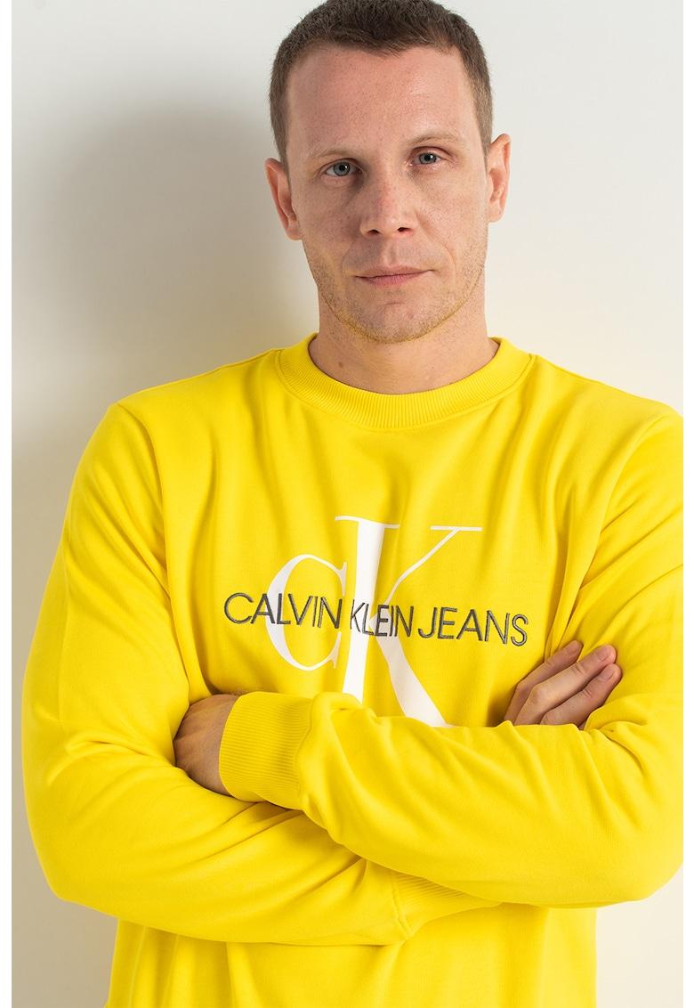 CALVIN KLEIN JEANS Bluza sport de bumbac organic cu logo
