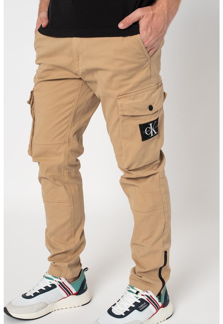 CALVIN KLEIN JEANS Pantaloni cargo cu slituri cu fermoar la nivelul gleznei