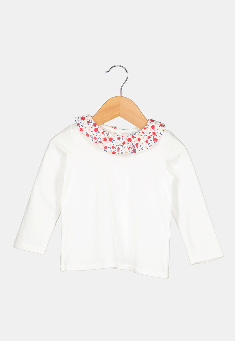 Bluza cu imprimeu floral pe guler