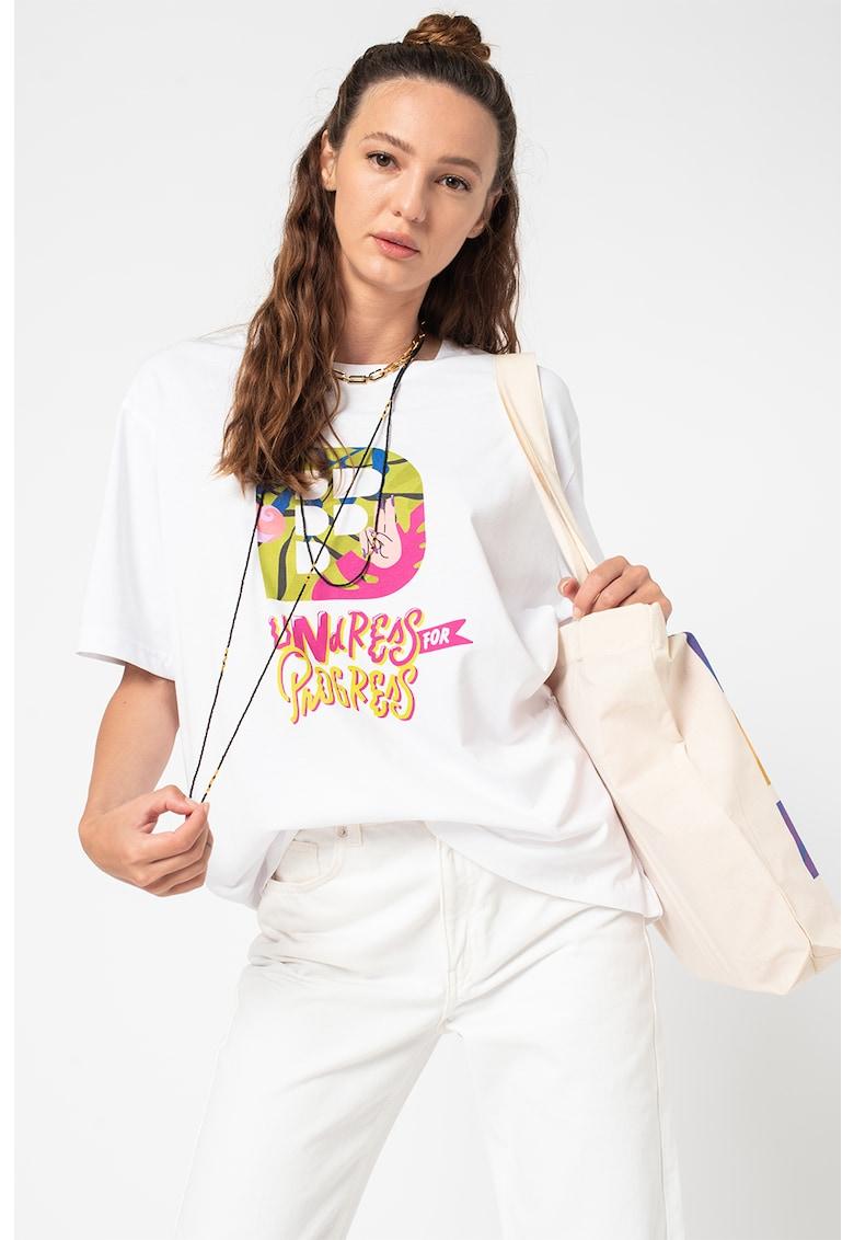 Fashion Days Tricou unisex de bumbac organic cu imprimeu grafic