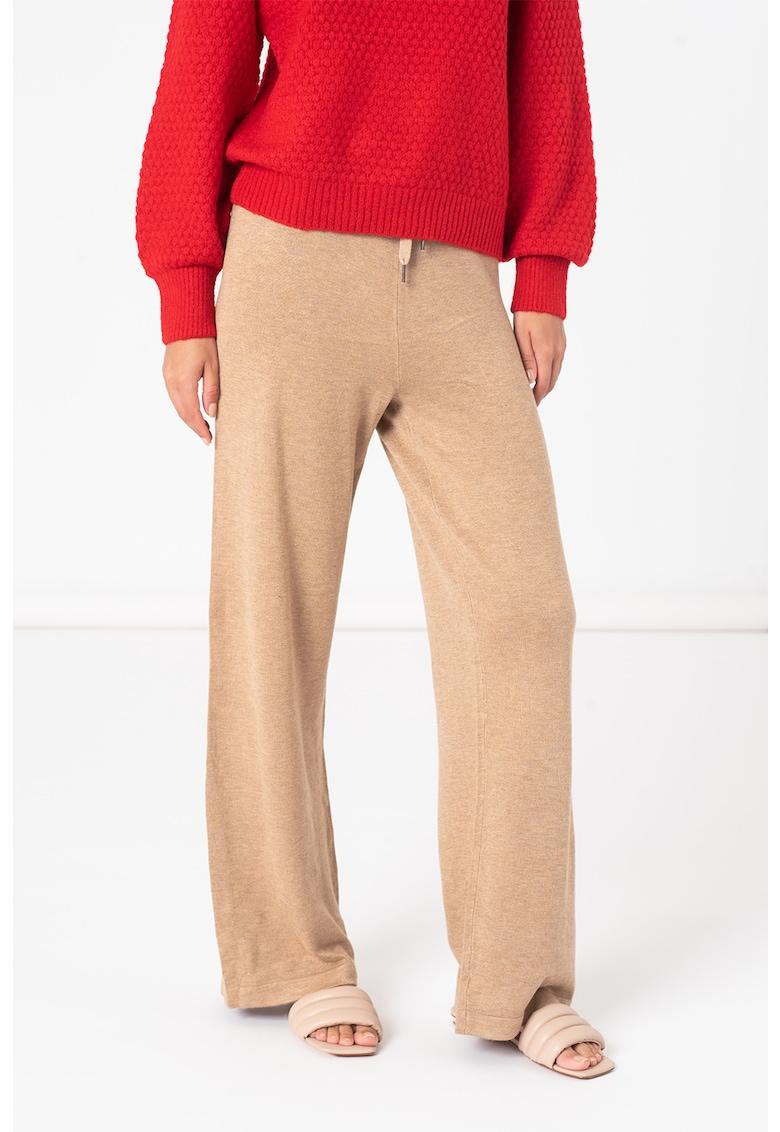 byoung Pantaloni tricotati fin cu snur in talie Pimba