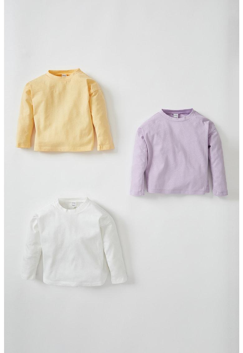 DeFacto Set de bluze cu decolteu la baza gatului -3 piese