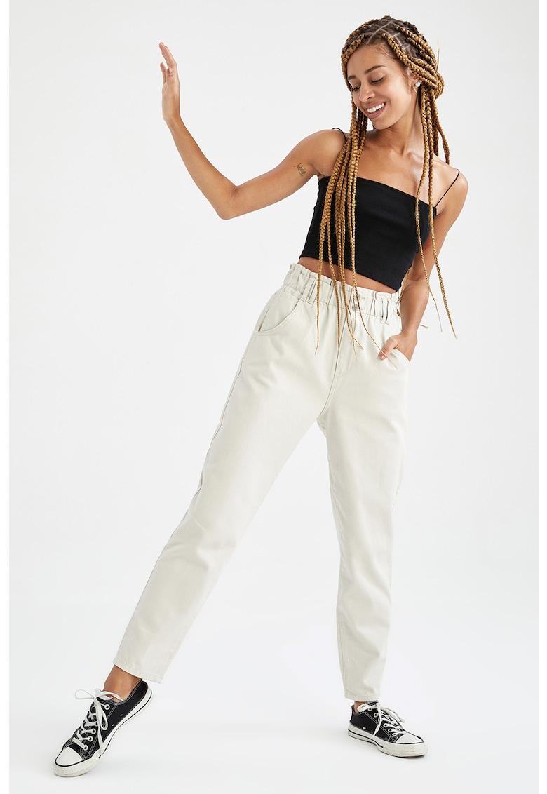 DeFacto Pantaloni mom fit cu talie elastica
