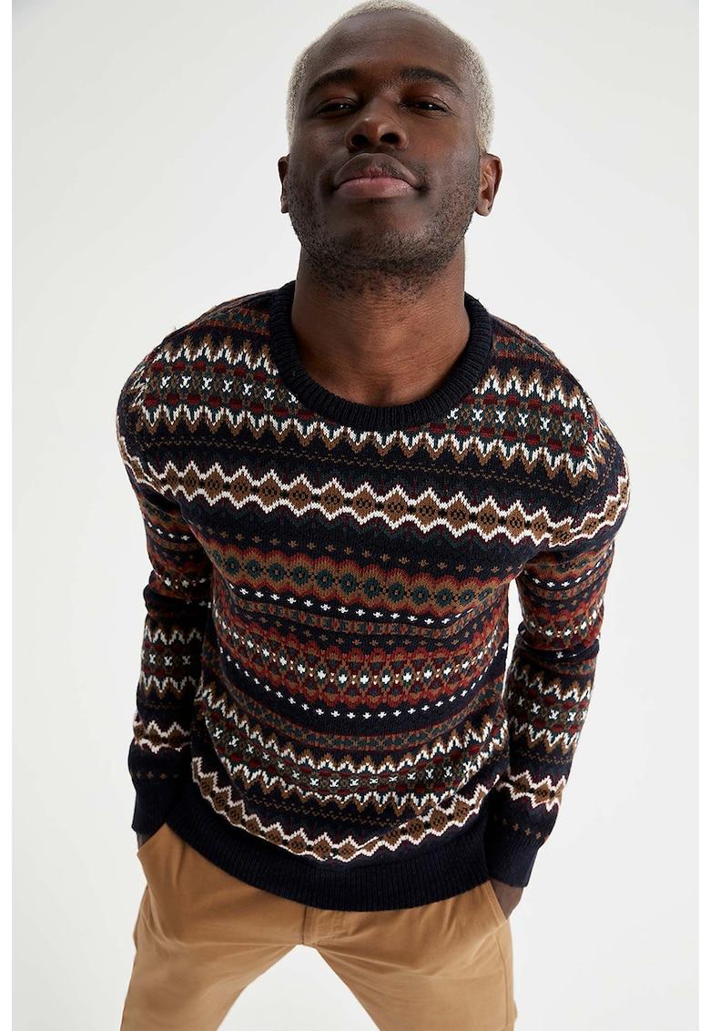 DeFacto Pulover tricotat cu decolteu la baza gatului