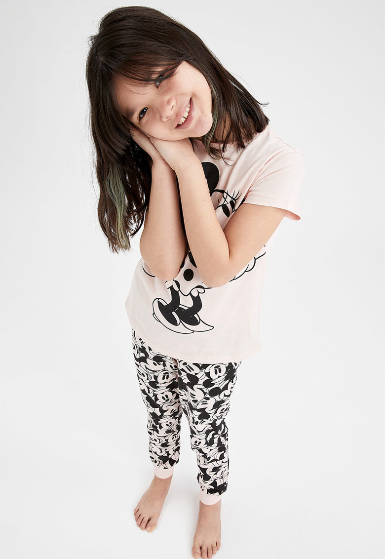 DeFacto Pijama cu maneci scurte si Minnie Mouse