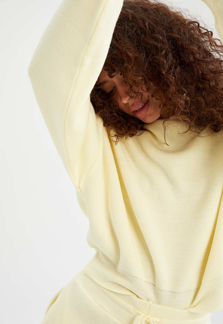 DeFacto Hanorac tricotat fin cu maneci cazute